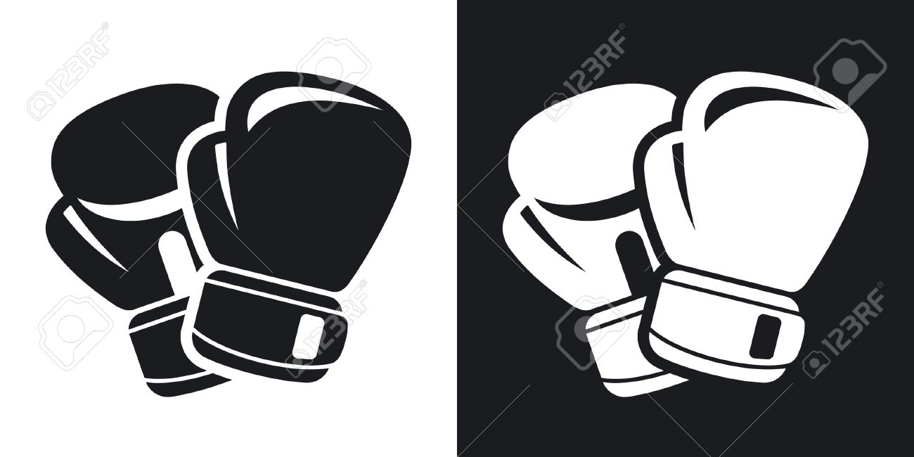 Vector boxing gloves icon. Two.