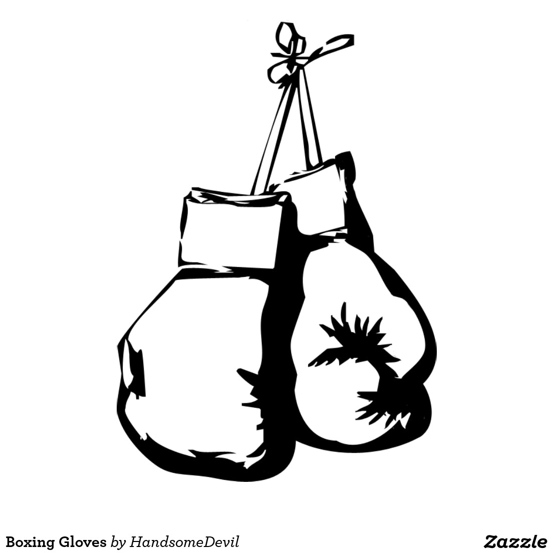 Free Boxing Gloves Clipart Black And White, Download Free Clip Art.