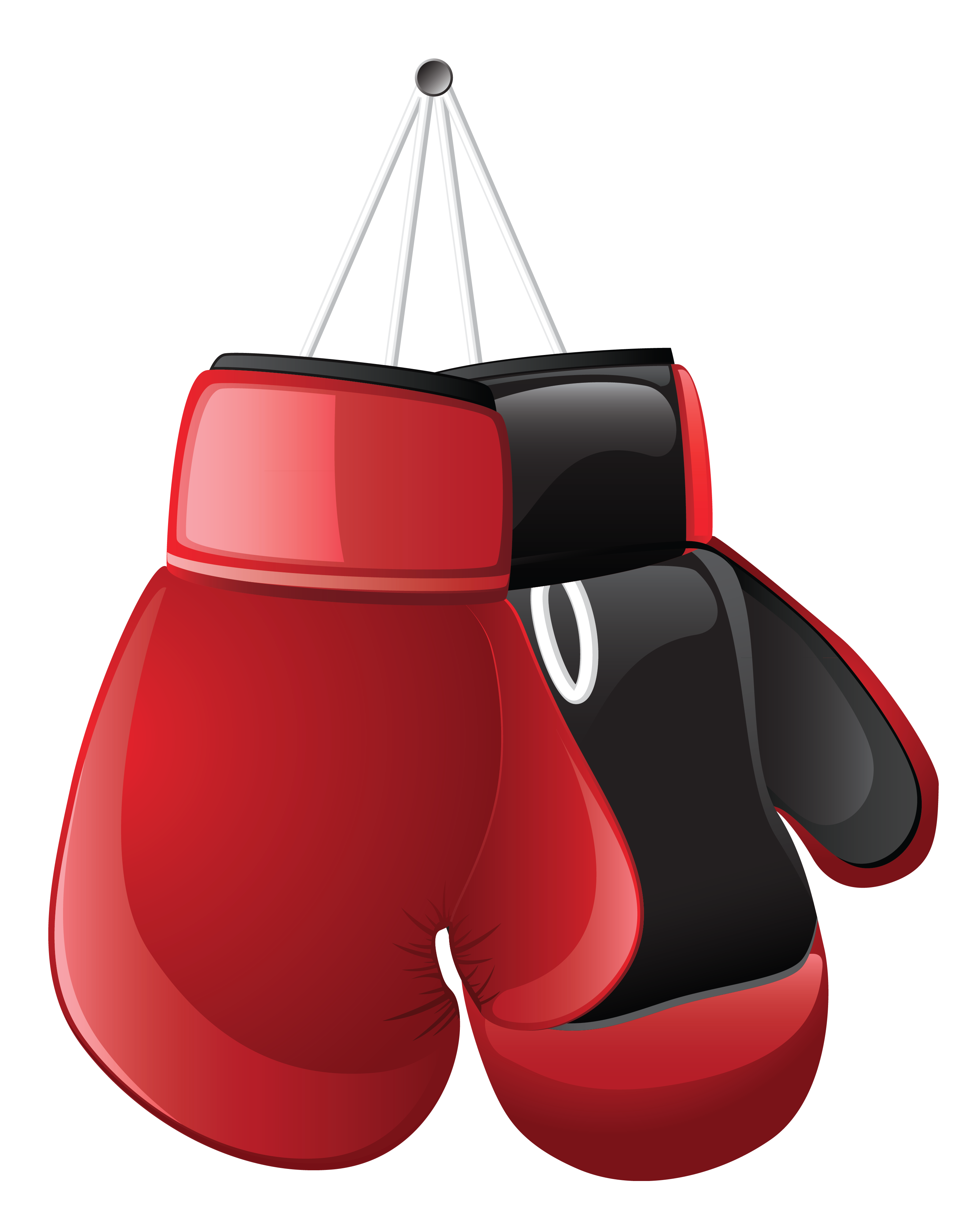 Boxing Gloves PNG Vector Clipart.