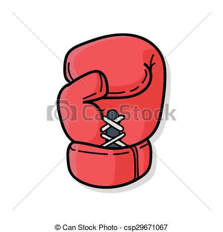 Clip Art Vector of Boxing gloves doodle csp29671067.