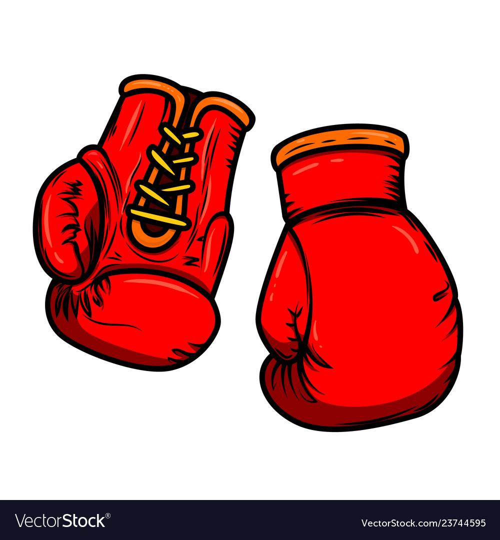 Boxing gloves design elements for logo label sign.