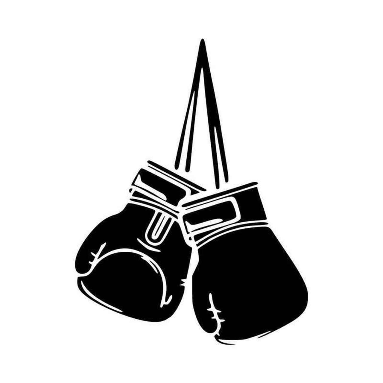 Boxing Gloves Vinyl Decal Sticker.