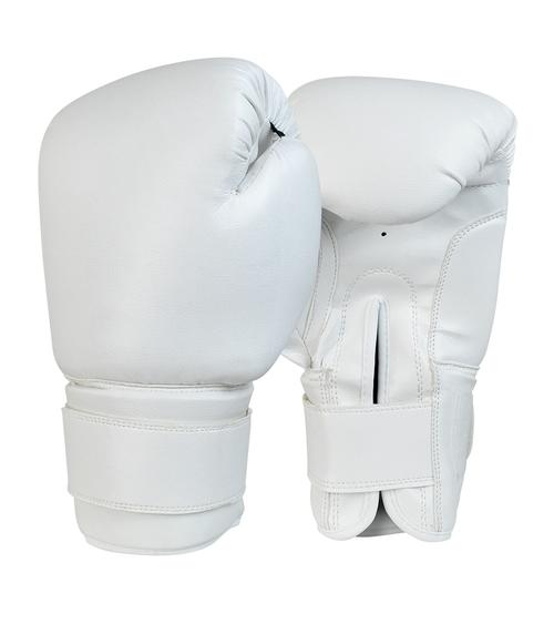Recruit No Logo Boxing Gloves White.