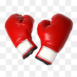 One Pair Of Boxing Gloves, Red Boxing Gl #9497.