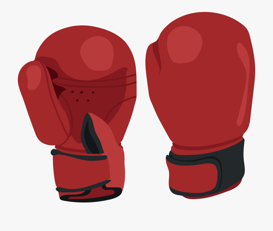 Picture Black And White Stock Red Boxing Gloves Clipart.