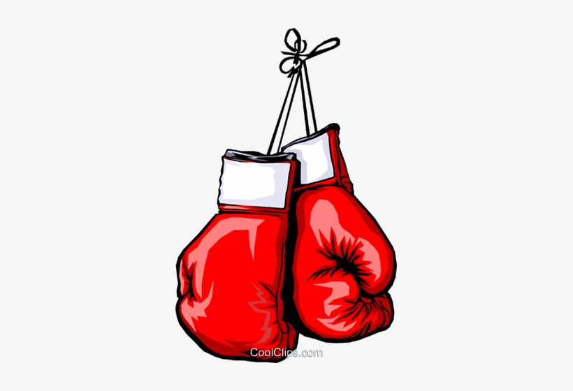 Boxing Gloves Royalty Free Vector Clip Art Illustration.