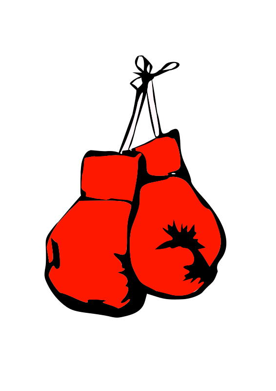 Free Clipart: Burning boxing gloves.