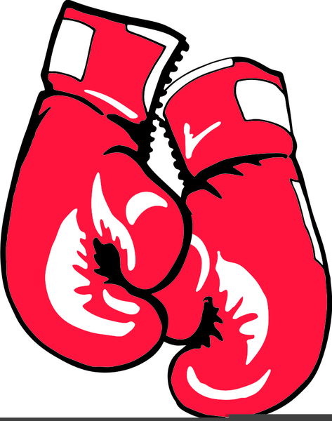 Boxer And Boxing Gloves Clipart.
