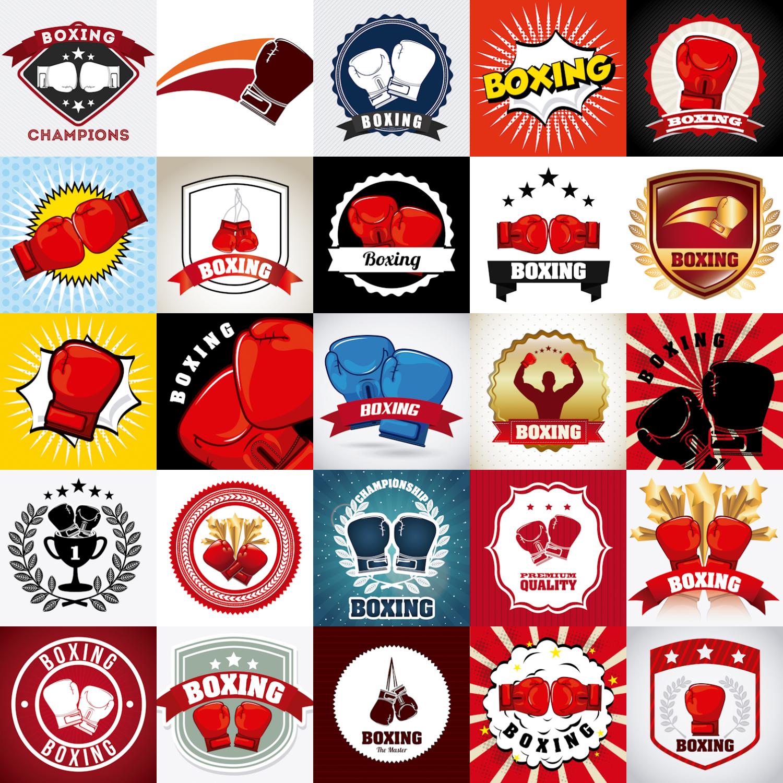 Boxing logo vector free download.