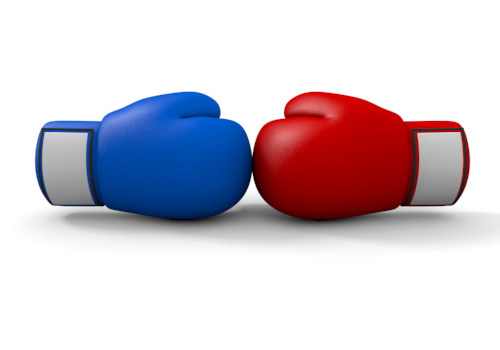 Boxing match clipart.
