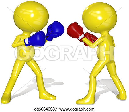 Boxing Match Stock Illustrations.