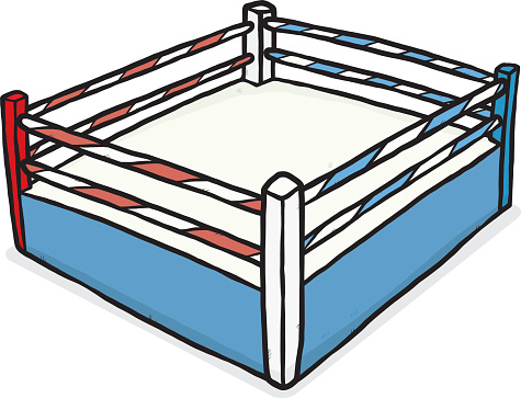 The Boxer in Ring Clip Art.