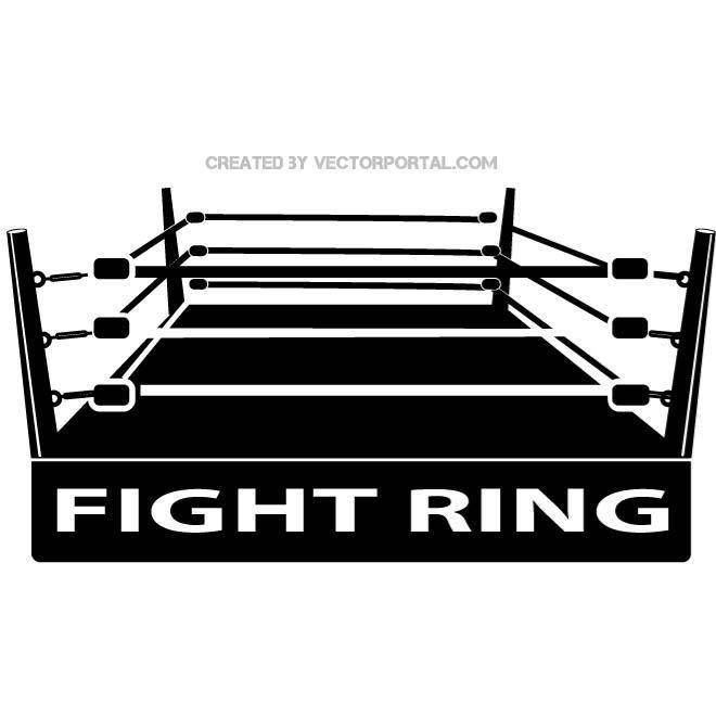 Boxing Ring Image Free Vector.