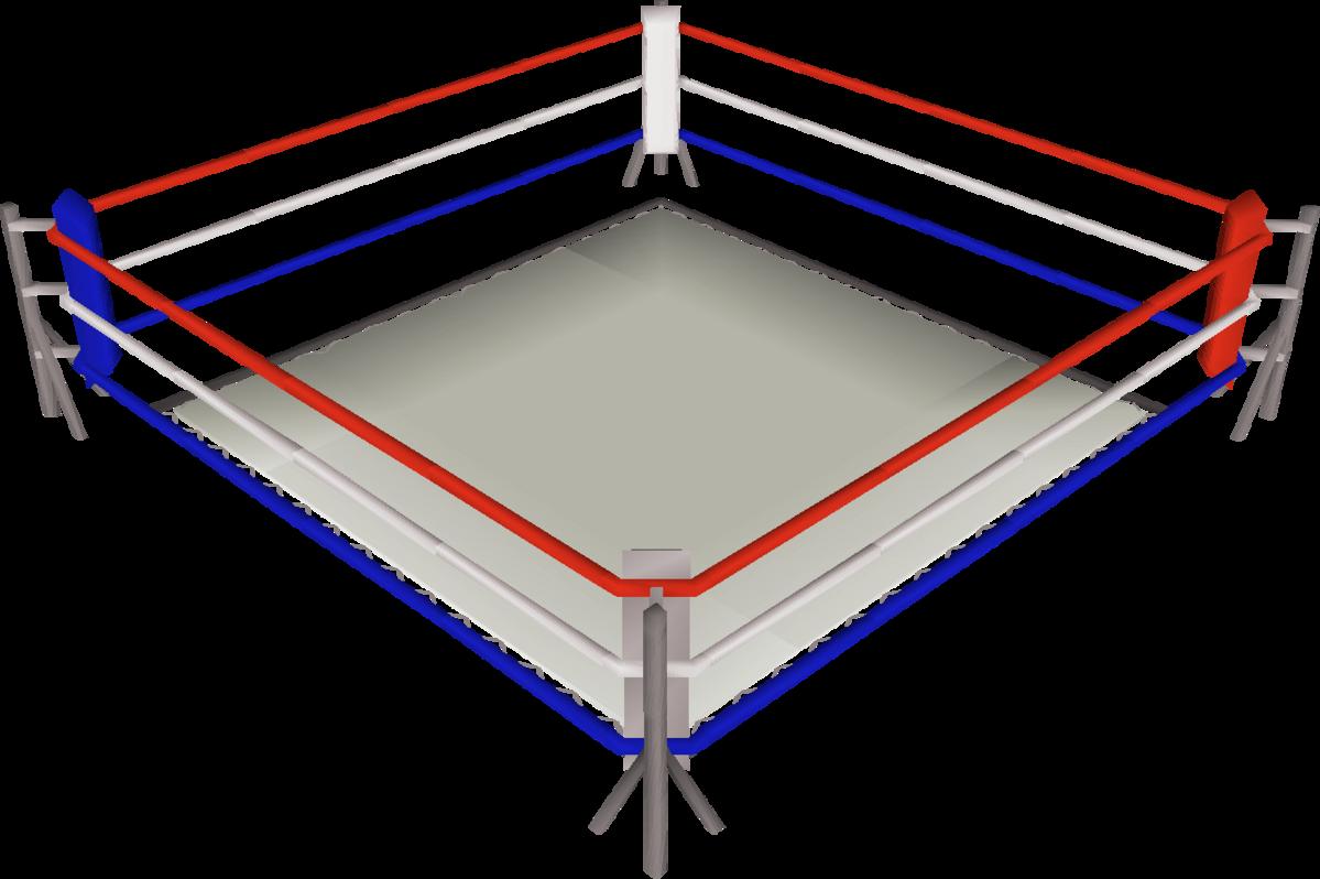 Boxing ring.