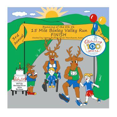 Running of the Elk 5k Road Race.