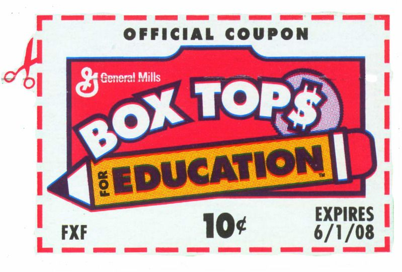 Box Tops Collection Sheets.