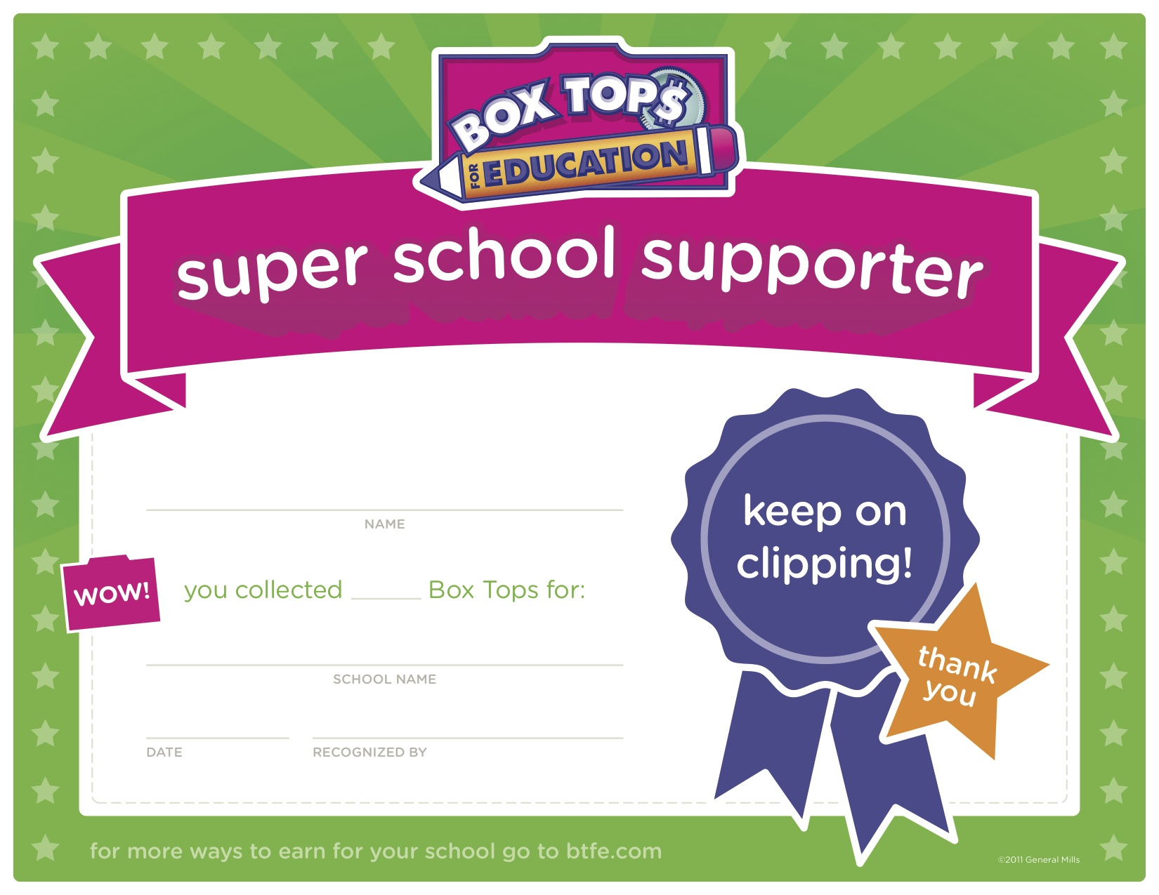 Boxtops For Education Clipart.