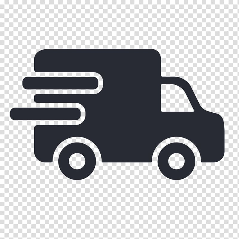 Black box truck illustration, Van Delivery Truck Car.