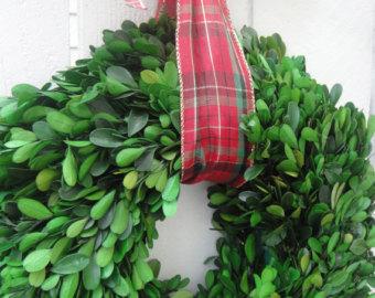 Dried Boxwood Wreath Wedding Decor Boxwood Wreath Natural Boxwood.