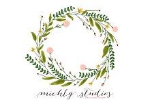 Watercolor Wedding Wreaths Clip Art ~ Illustrations on Creative Market.