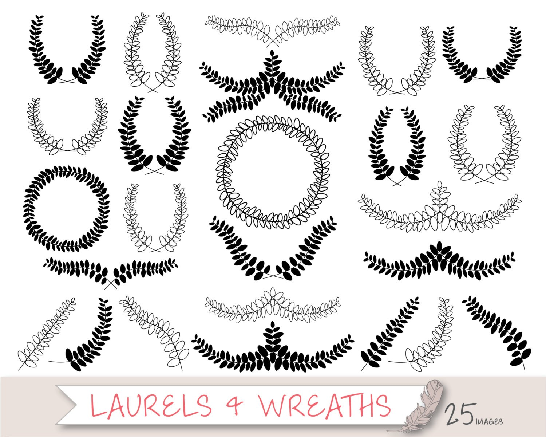 laurel wreath art Items.