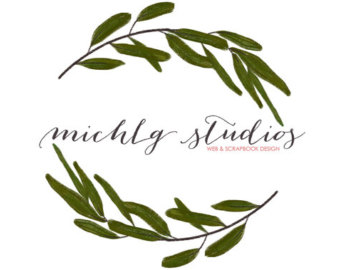 Digital Clip art Boxwood wreath PNG clipart by michLgstudios.