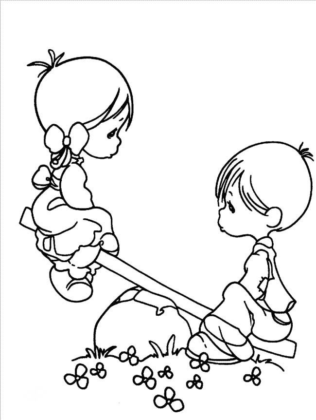 pinned from site directly~~ . . . Boy And Girl Precious Moments.