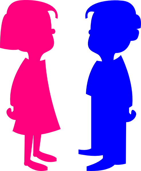boy girl color clip art at clkercom - Picture Of A Boy To Color