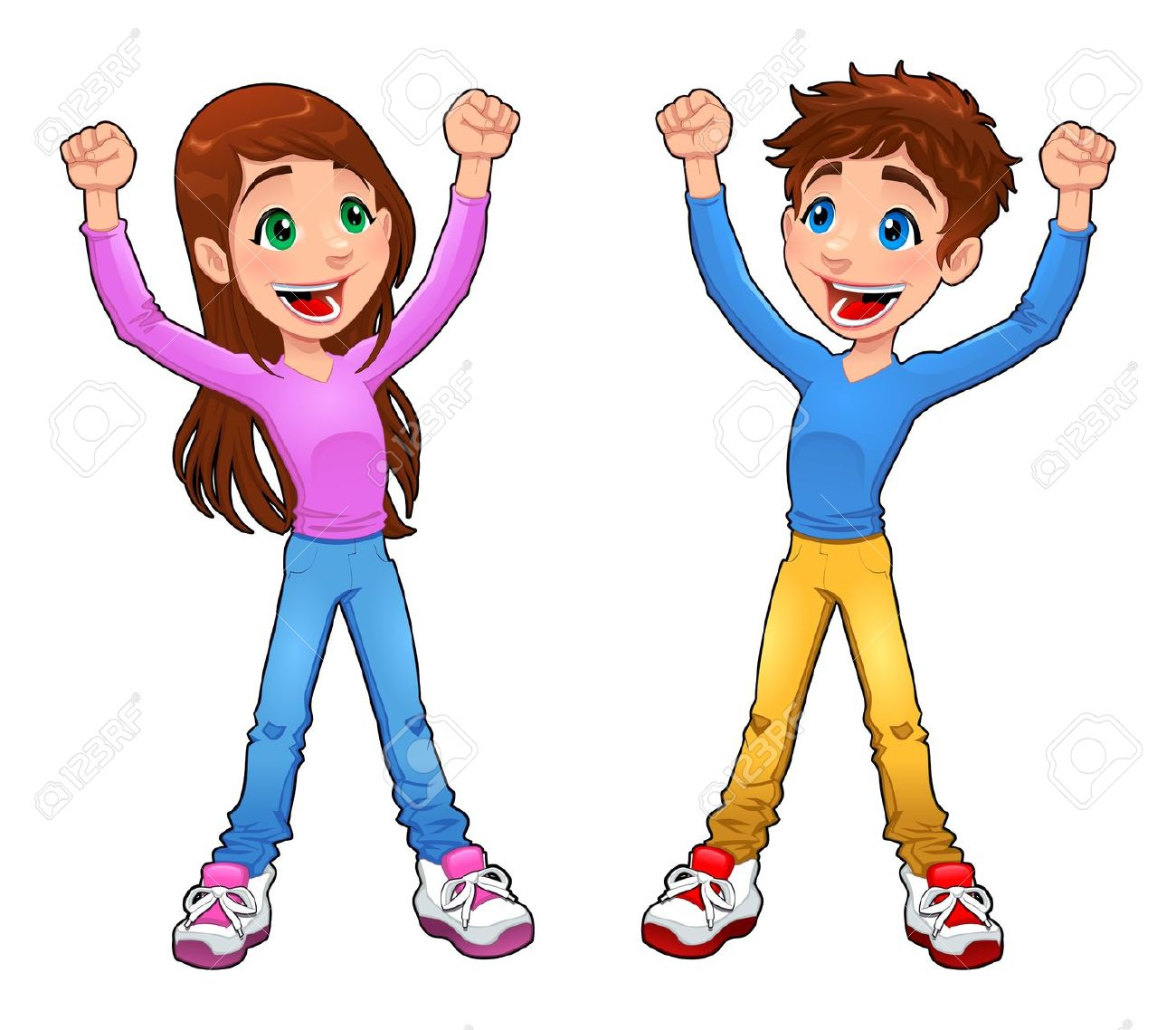Enthusiast Boy And Girl. Cartoon And Vector Isolated Character.