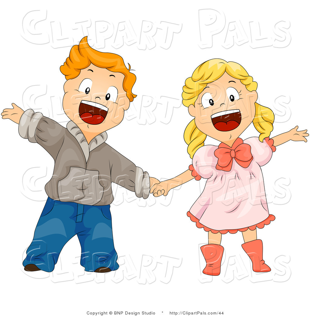 Boy And Girl Holding Hands Clipart.