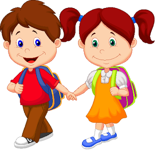 Cute boy and girl clipart.