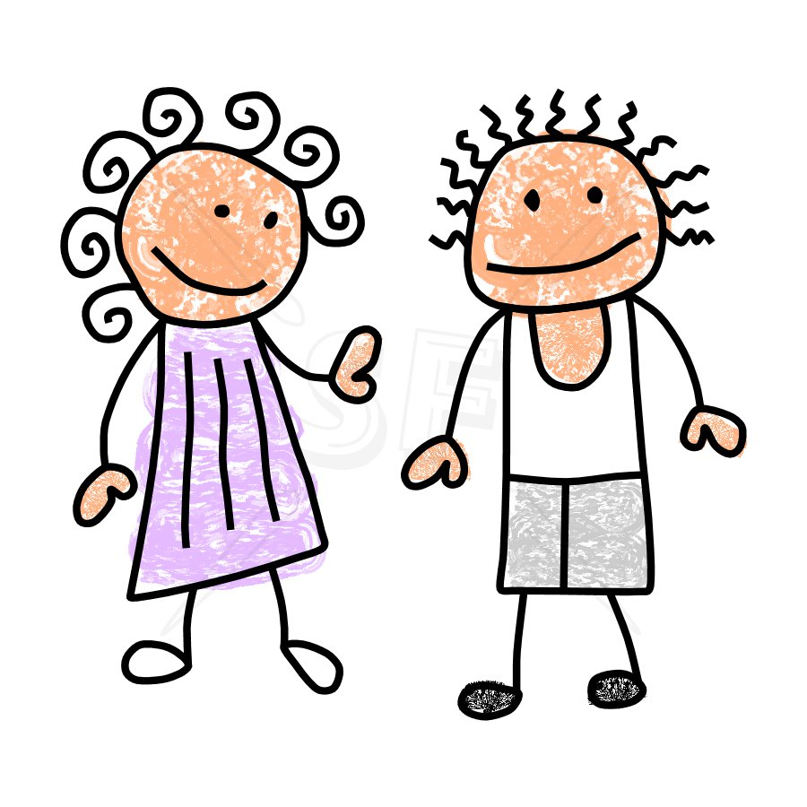 Boy And Girl Clipart.