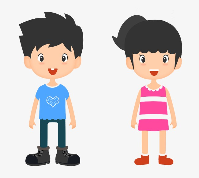 Boys And Girls, Flat, Boy, Girl PNG Transparent Image and Clipart.