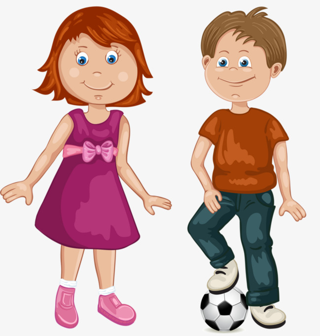 Girls And Boys Play Football Boy Girl PNG Image Clipart For Detail.