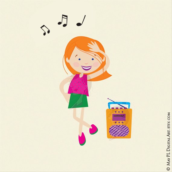 Dance Clipart Disco Kids Party Children Boy Girl Dancing Cute Vector.