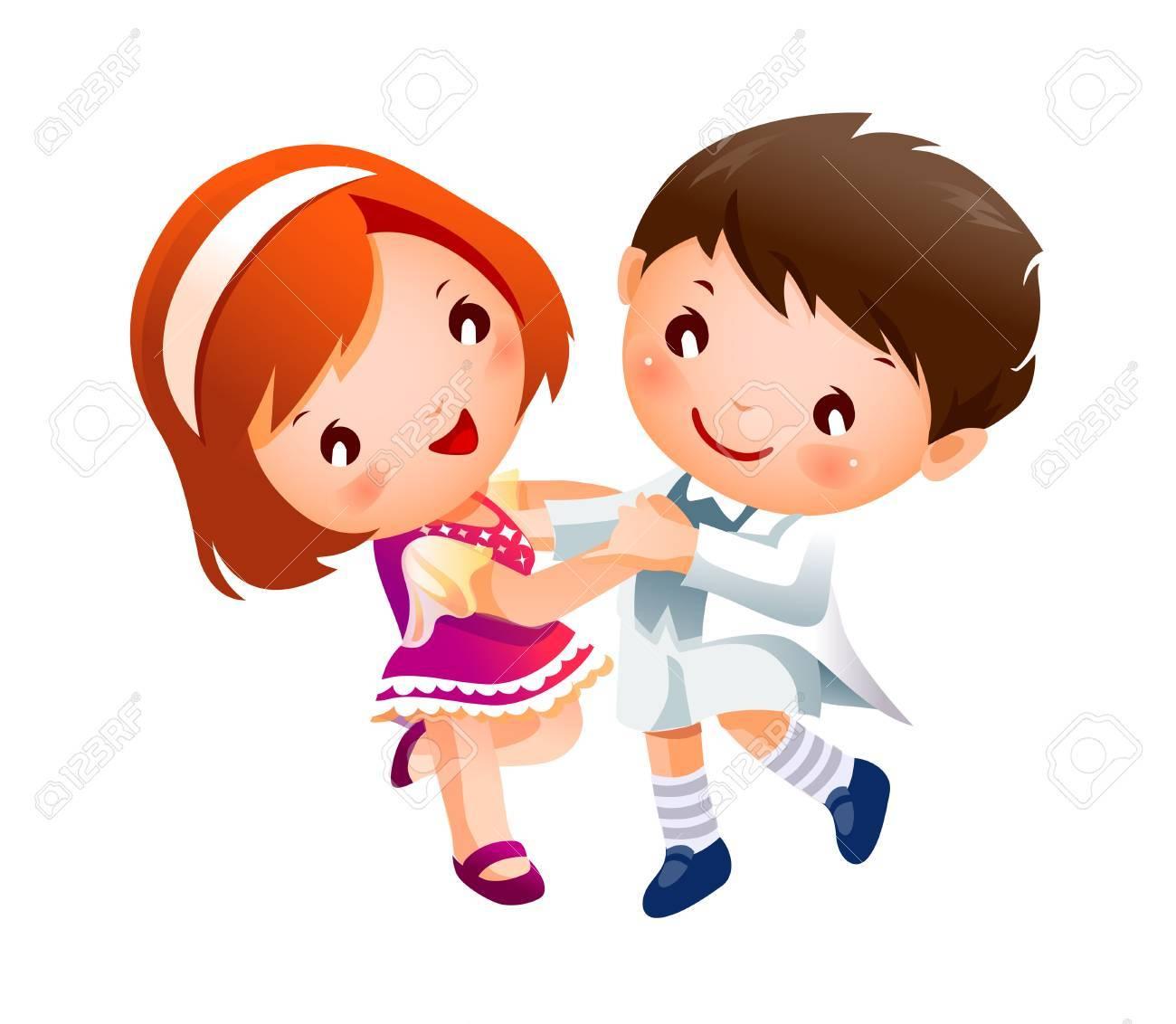 Boy and Girl dancing.