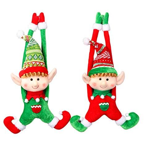 PartyTalk 2pcs Plush Christmas Elves Toys 16