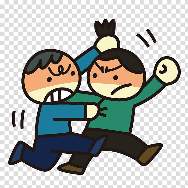 Girl and boy fighting , Cartoon No , Cartoon villain.