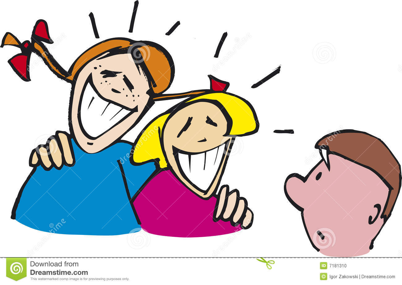 4297 Laughing free clipart.