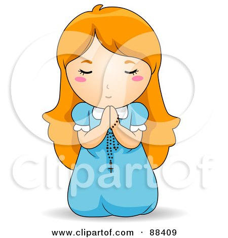 Clipart Boy And Girl Praying.