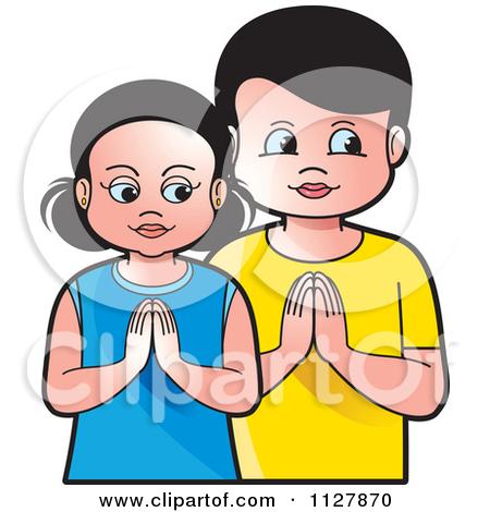 Child Prayer Clipart.