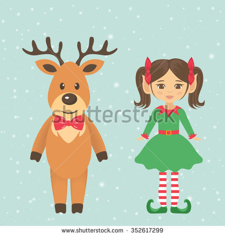 Reindeer Costume Stock Images, Royalty.
