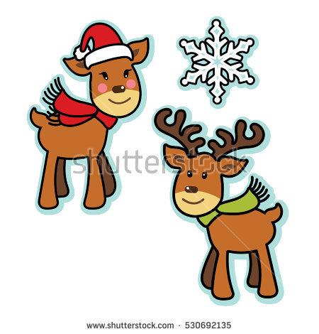 Female Reindeer Stock Vectors, Images & Vector Art.