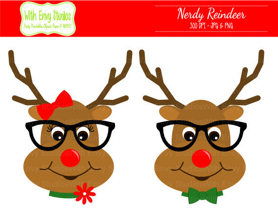 Boy and girl reindeer clipart clipartfest.