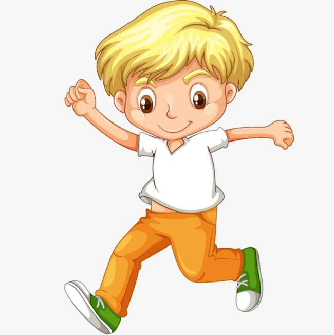 Little Boy Running In Vector Cartoon in 2019.