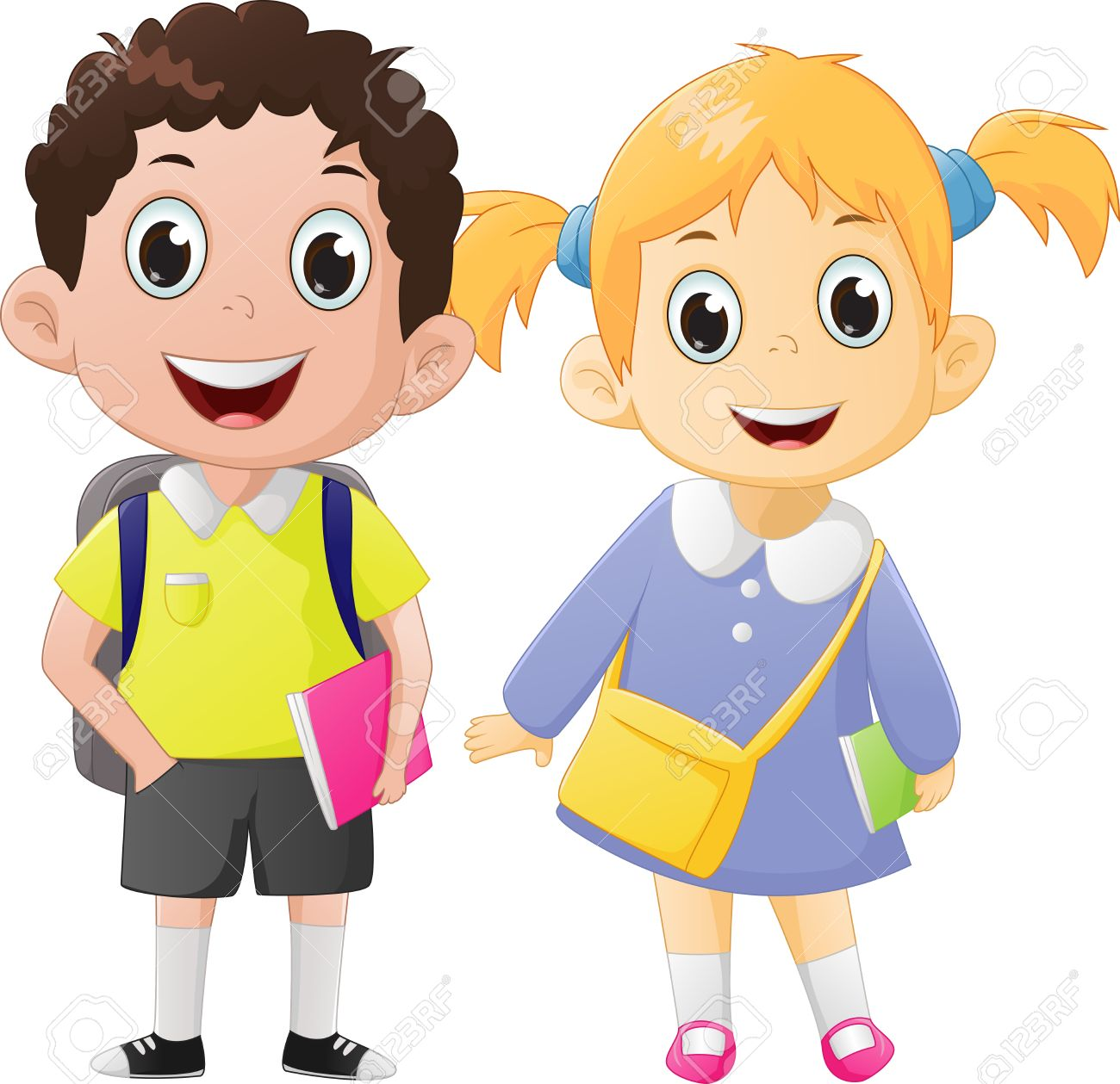 School boy and girl clipart 8 » Clipart Station.