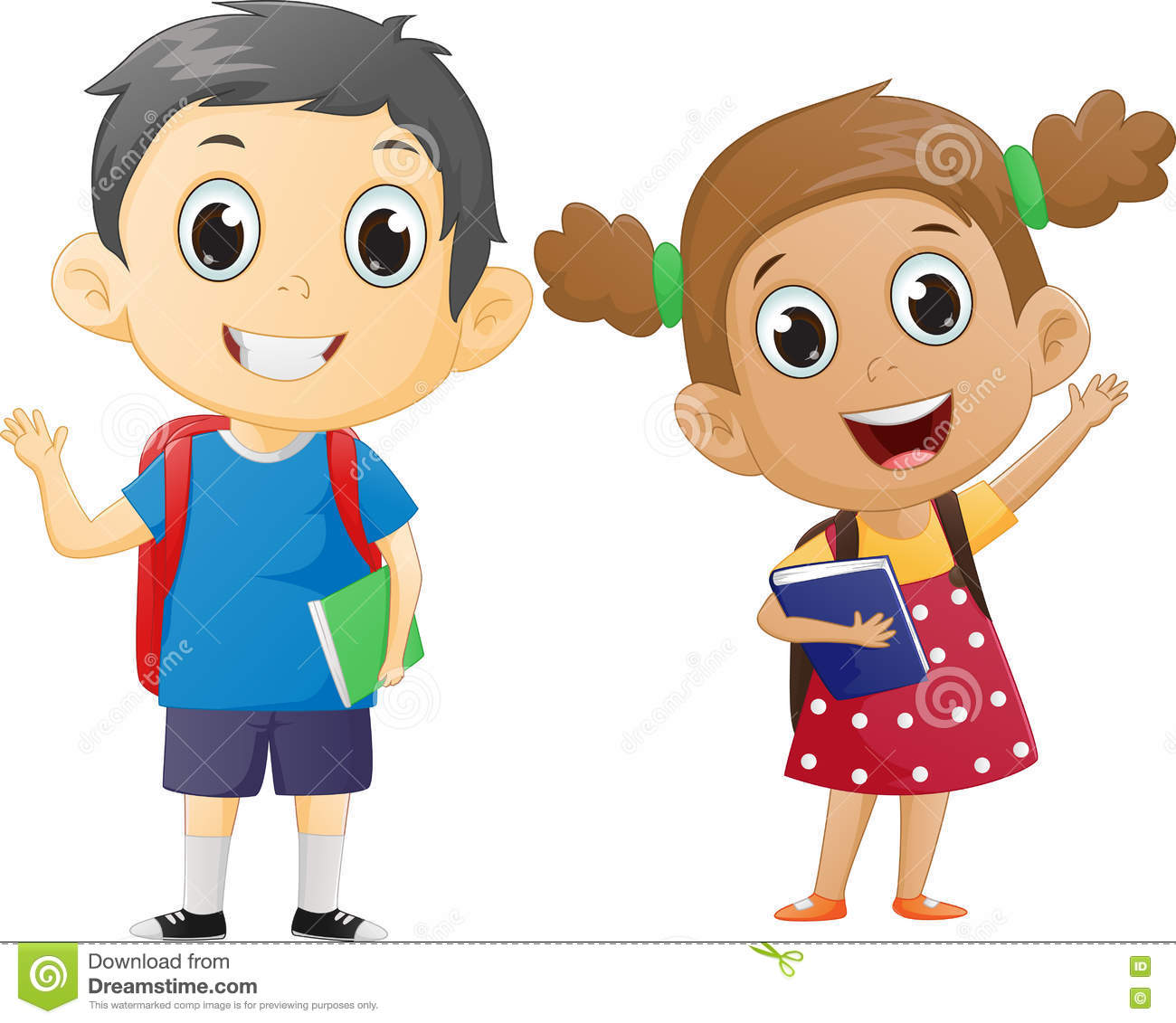 School boy and girl clipart » Clipart Station.