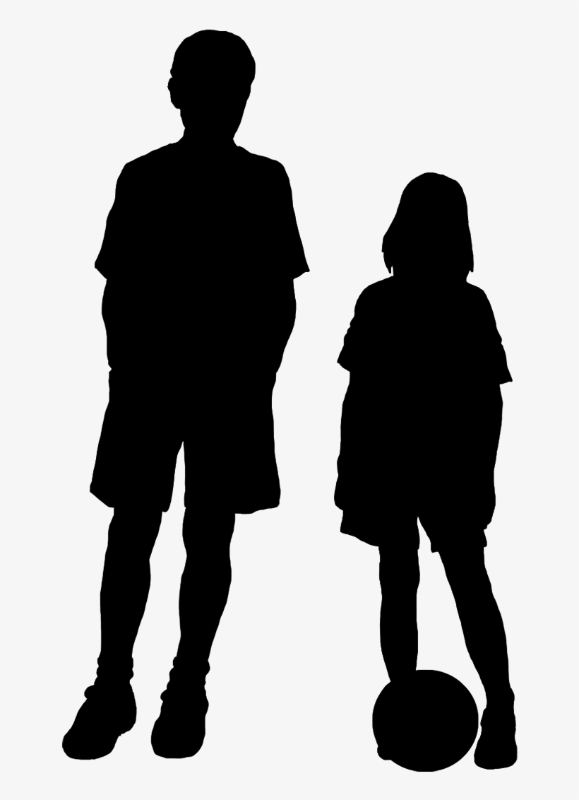 Boy And Girl Silhouette Clip Art.