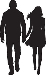Man And Woman Silhouette Clip Art.