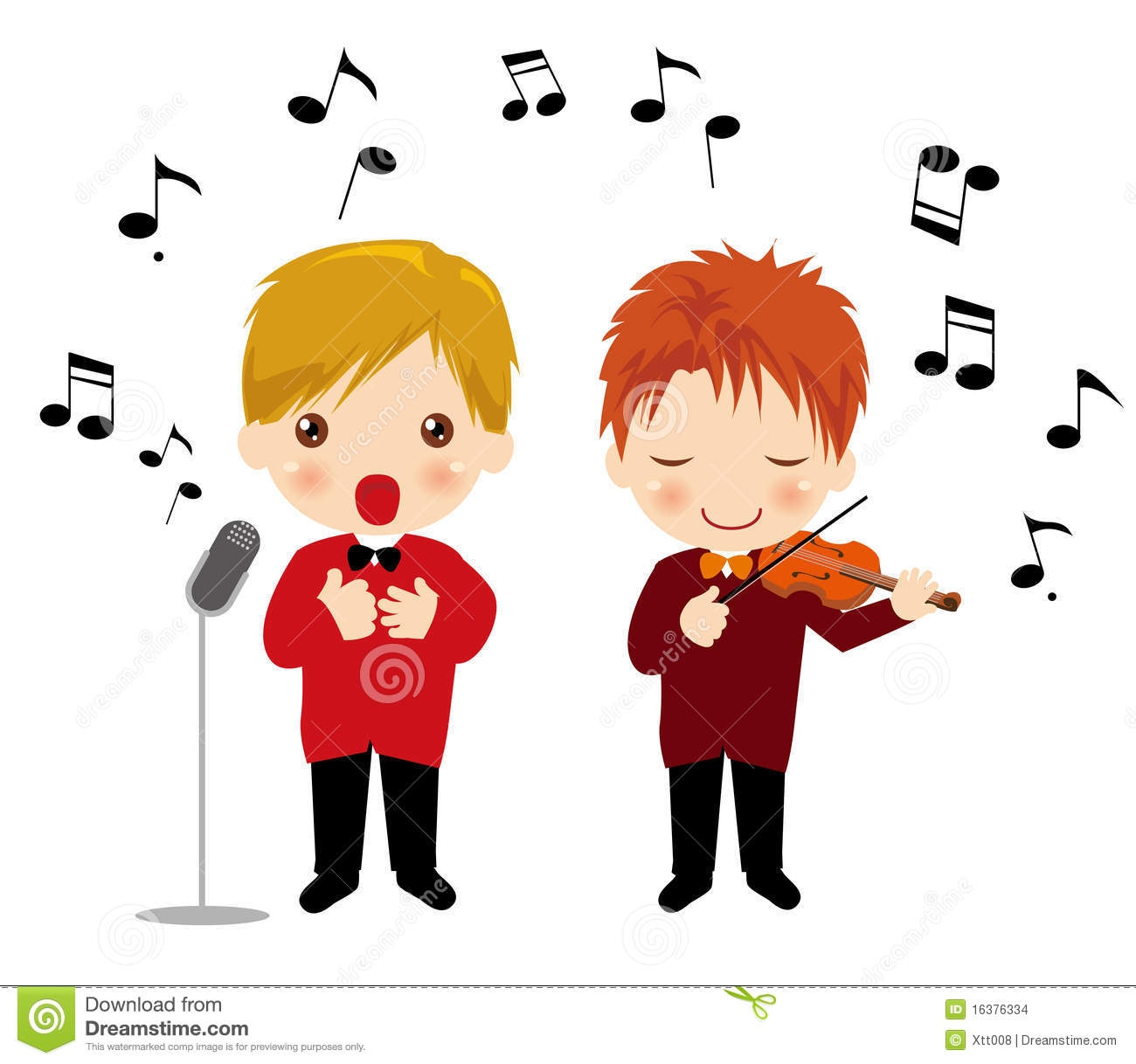 boy and girl singing clipart - Clipground